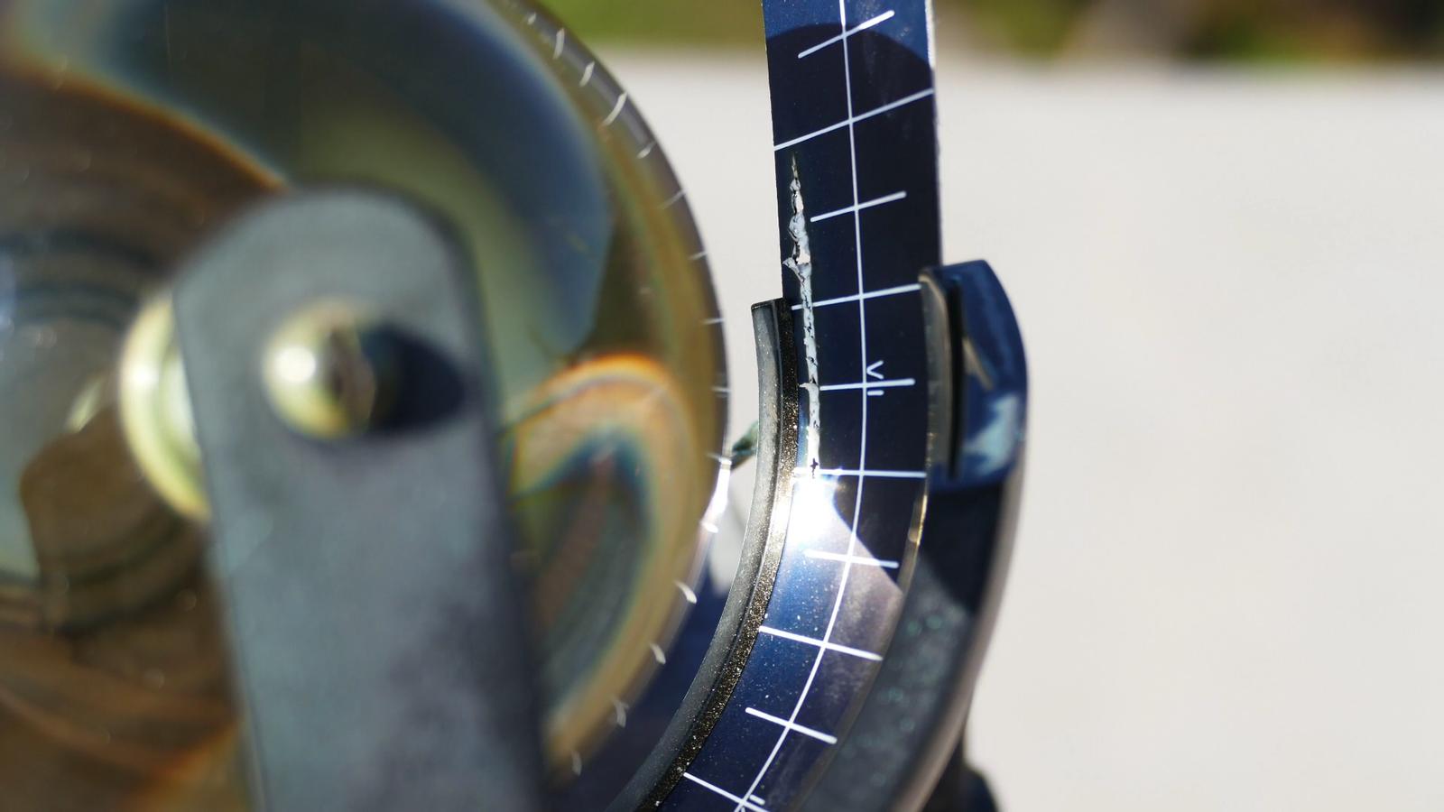 L'heliògraf en funcionament: tres hores de sol en 20 segons / ALFONS PUERTAS