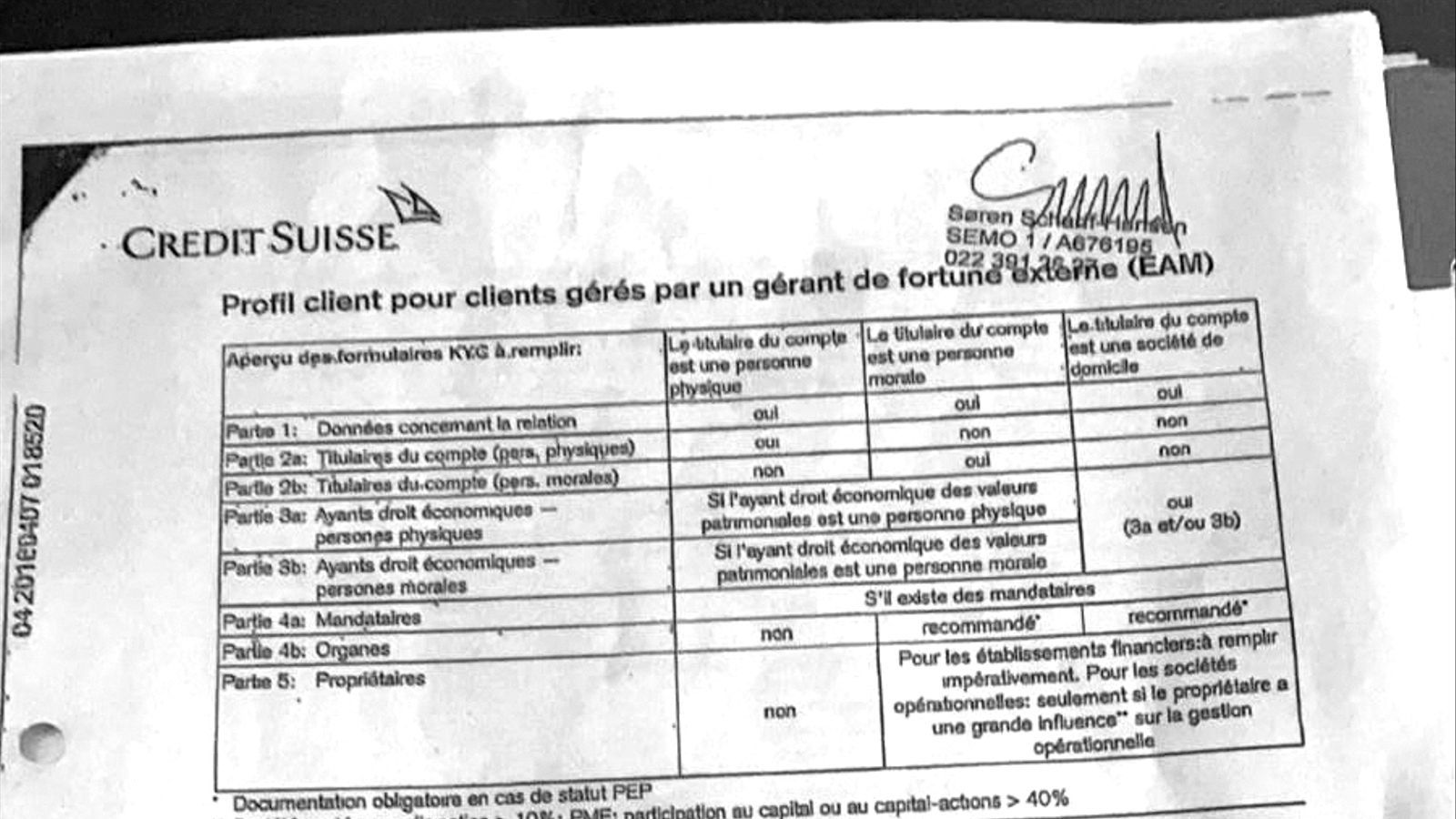 Document de Credit Suisse