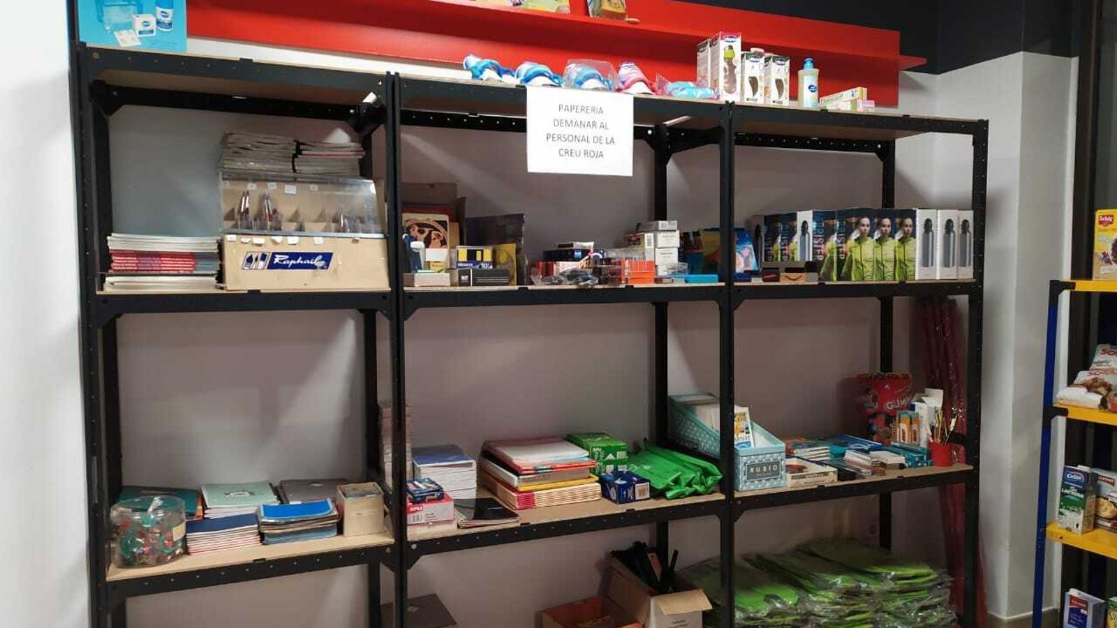 La botiga solidària de la Creu Roja en la nova ubicació. / CREU ROJA ANDORRANA