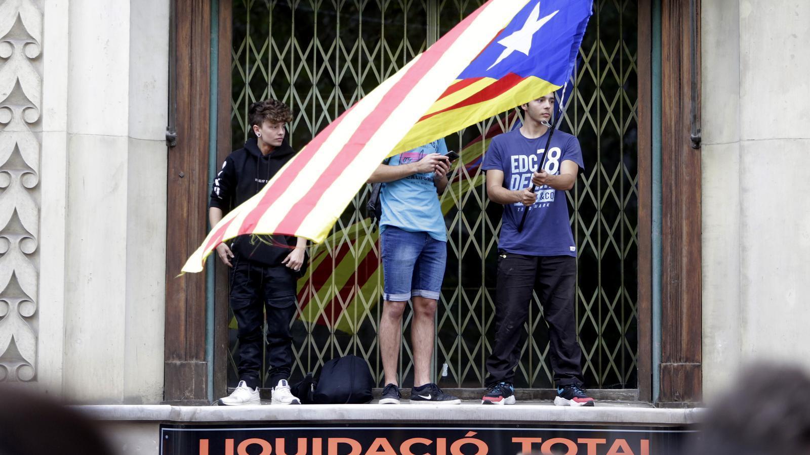 Imatge de la manifestació durant l'aturada de país del 18-O.