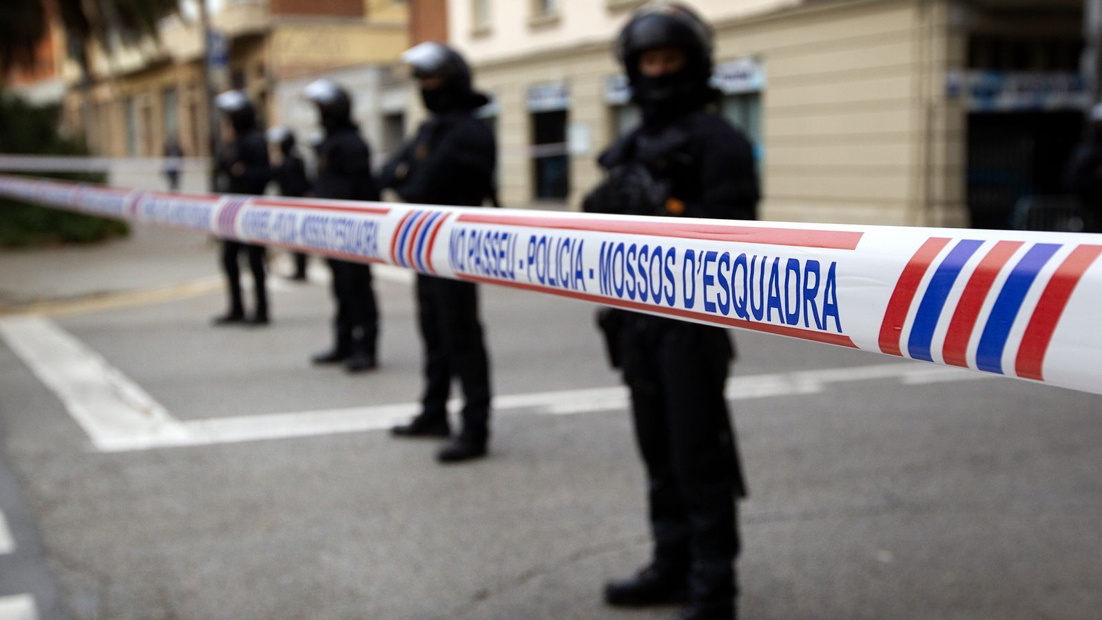 Agents antiavalots dels Mossos d'Esquadra en una imatge d'arxiu