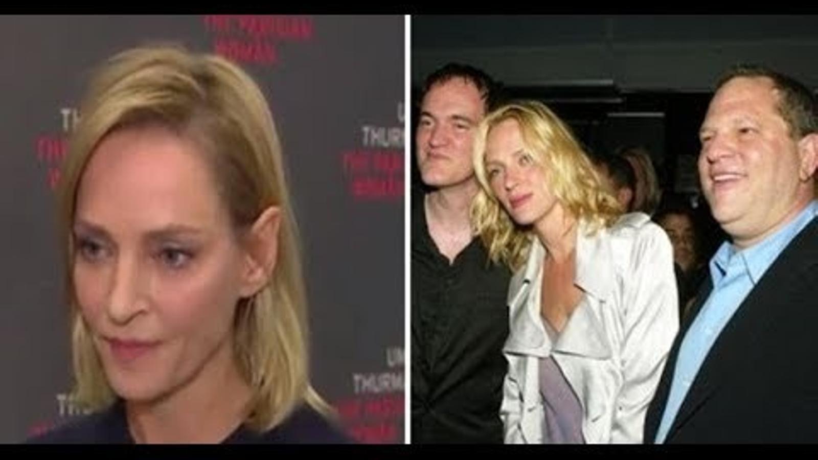 Uma Thurman es mossega la llengua sobre Harvey Weinstein