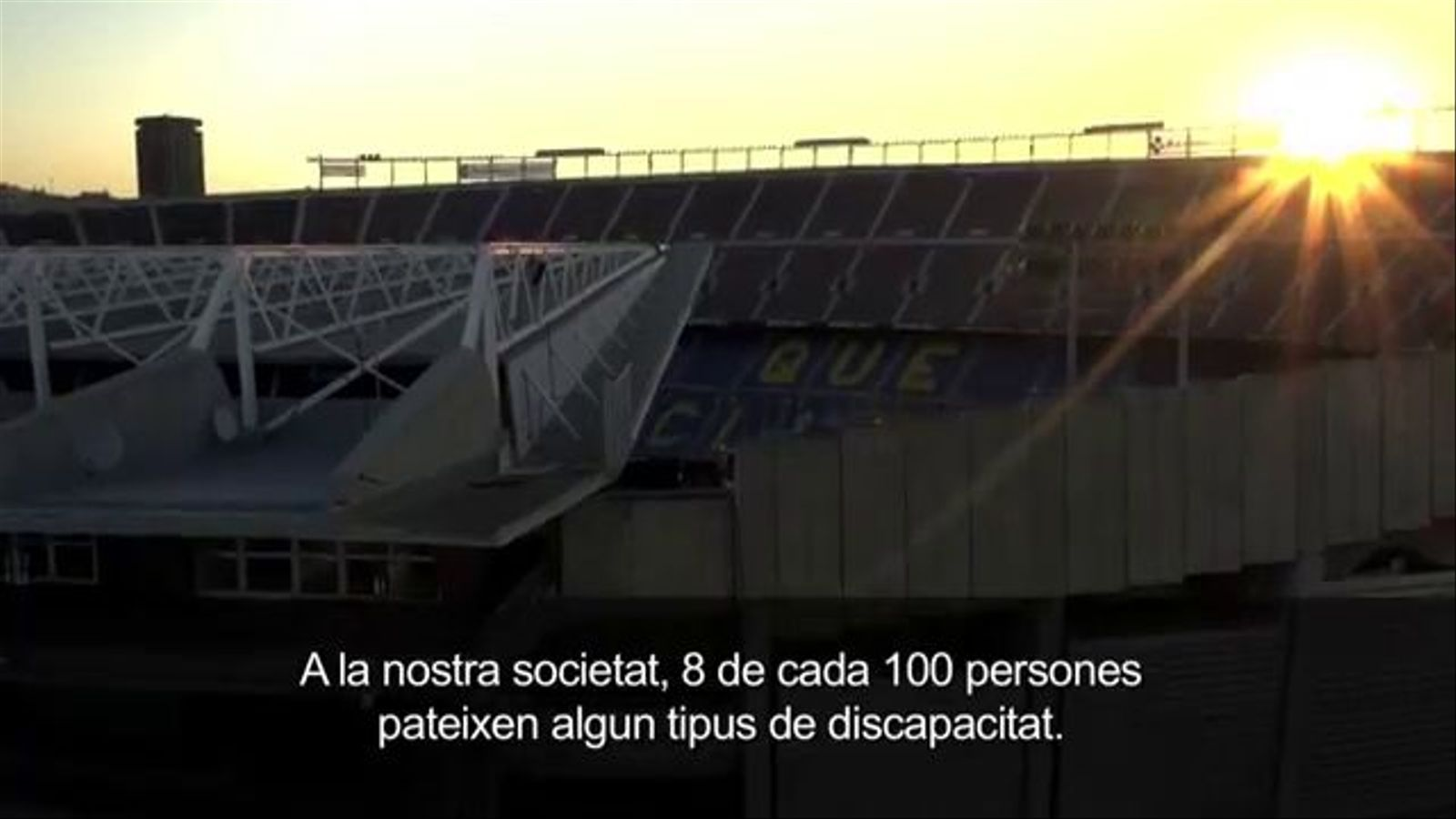 La web del Barça, accessible