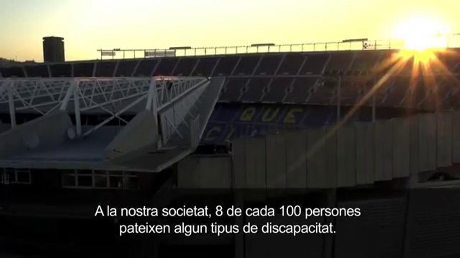 La web del Barça, accessible
