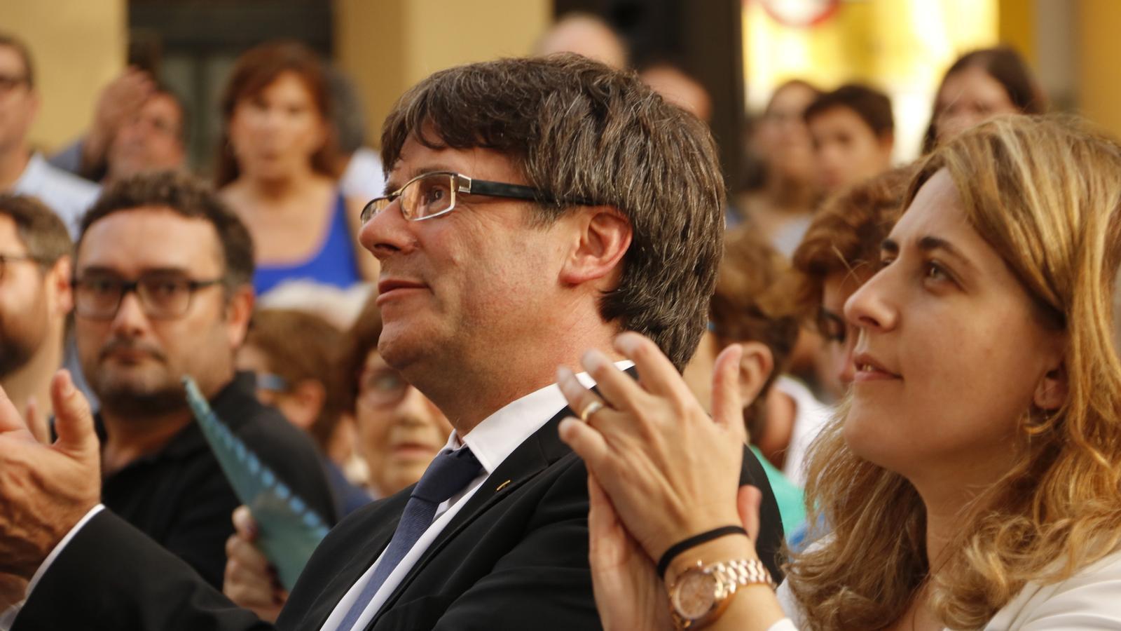 Puigdemont demana no distreure's en els preparatius del referèndum i garanteix que l'1-O hi haurà urnes