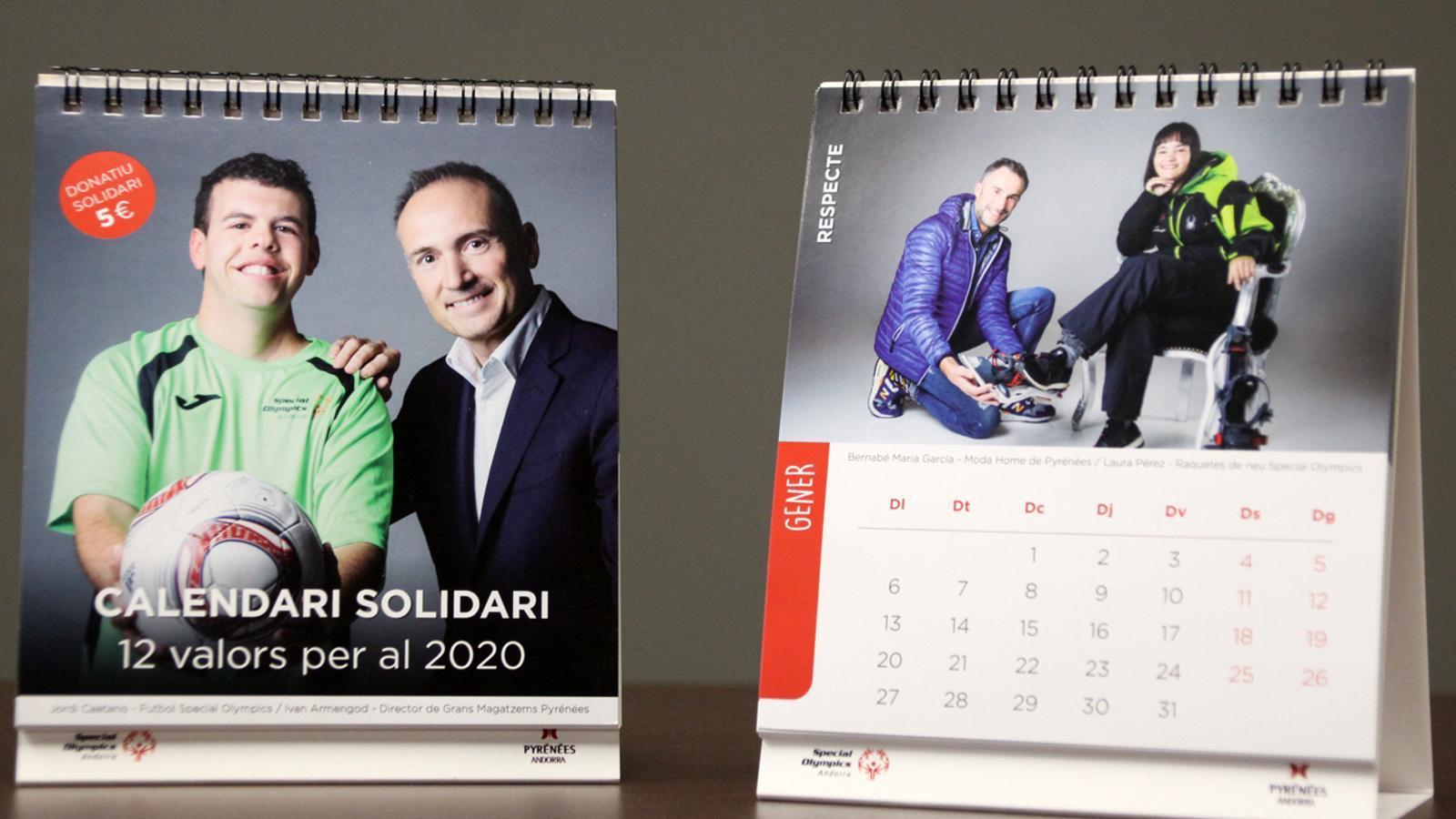 Calendari solidari d'Special Olympics en col·laboració amb Pyrénées. / T. N.