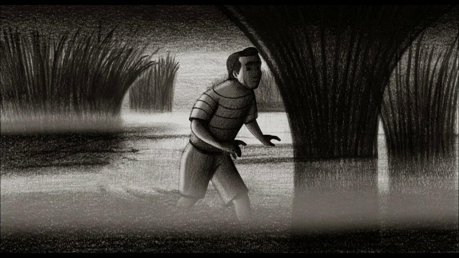 Fragment del curt de Lorenzo Mattotti per al film 'Peaur(s) de noir'