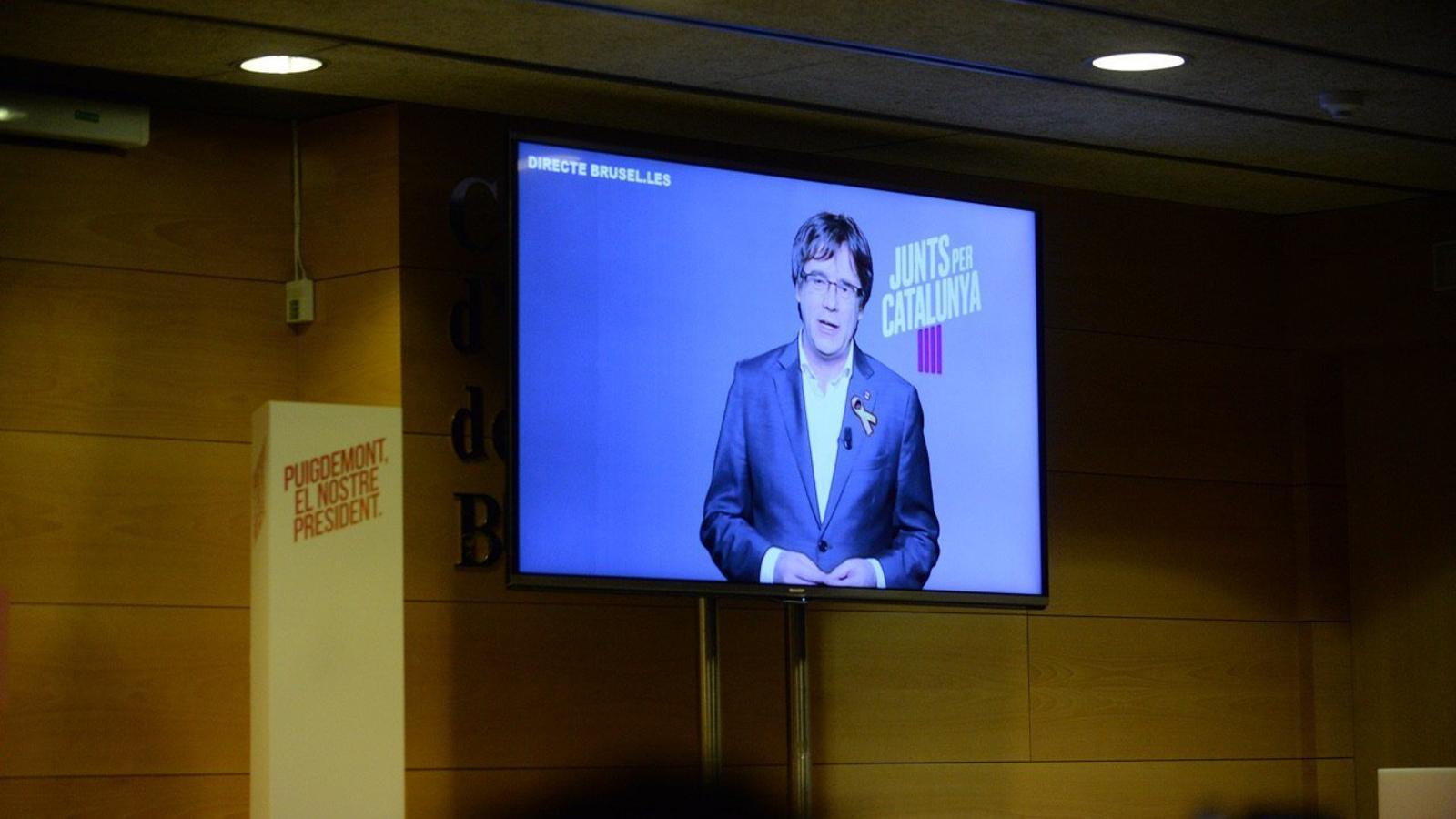 """Puigdemont diu que la """"pitjor notícia per Rajoy"""" és que guanyi Junts per Catalunya el 21-D"""