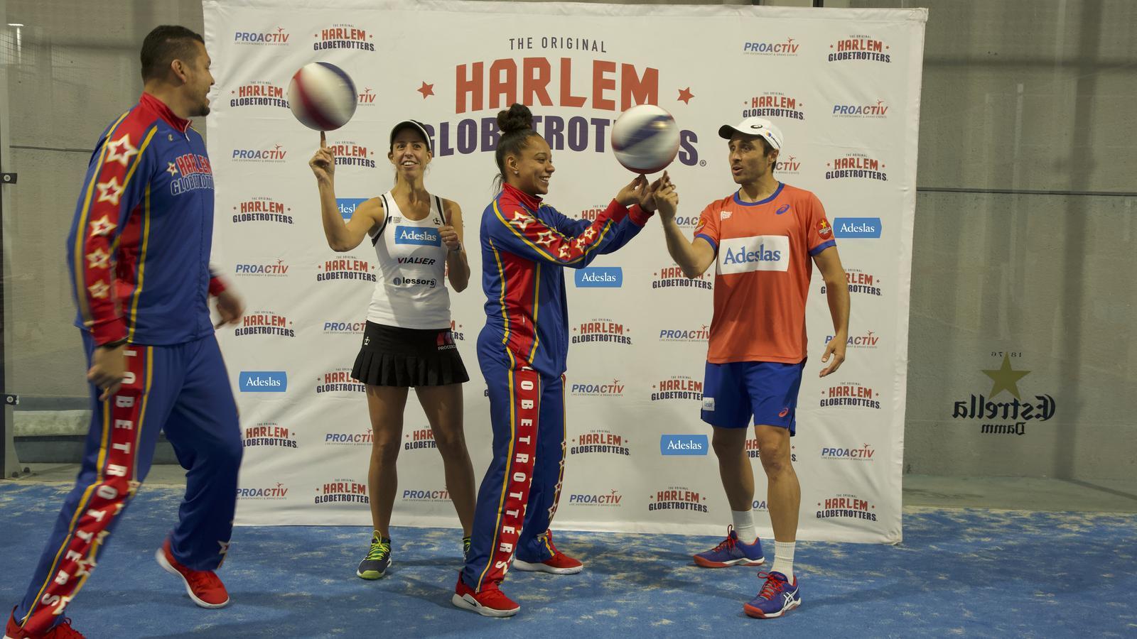 Els Harlem Globetrotters barregen pàdel i bàsquet