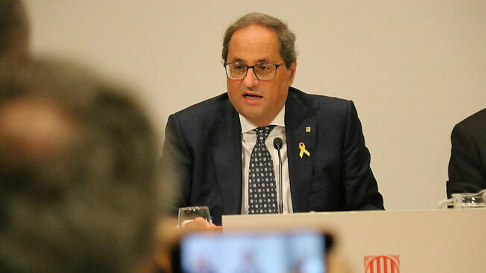 """Torra recusa el president del TSJC per """"imparcialitat flagrant"""""""