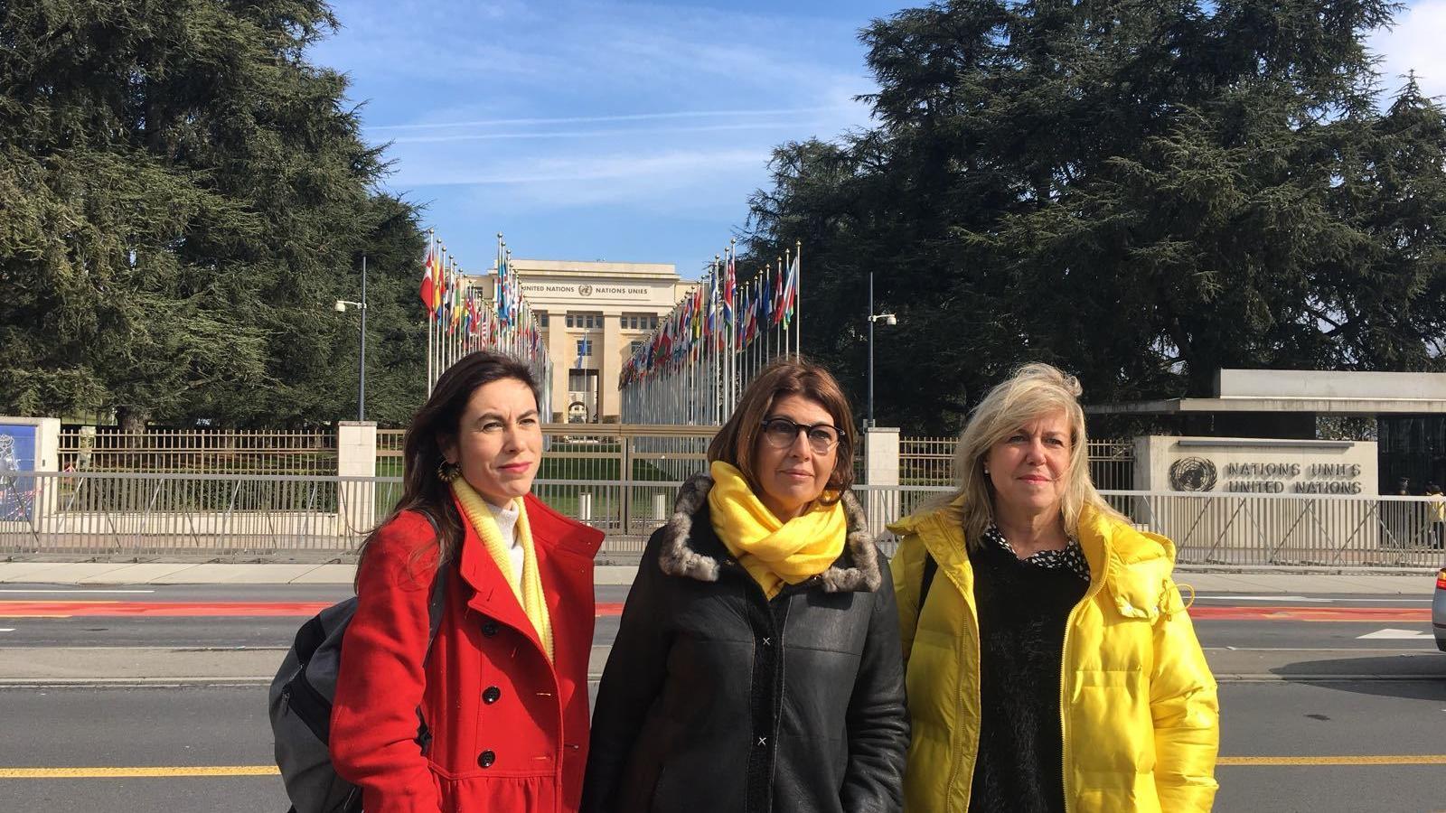 """Denúncia de la situació política i dels presos davant la ONU: """"Som aquí per fer un crit d'auxili"""""""