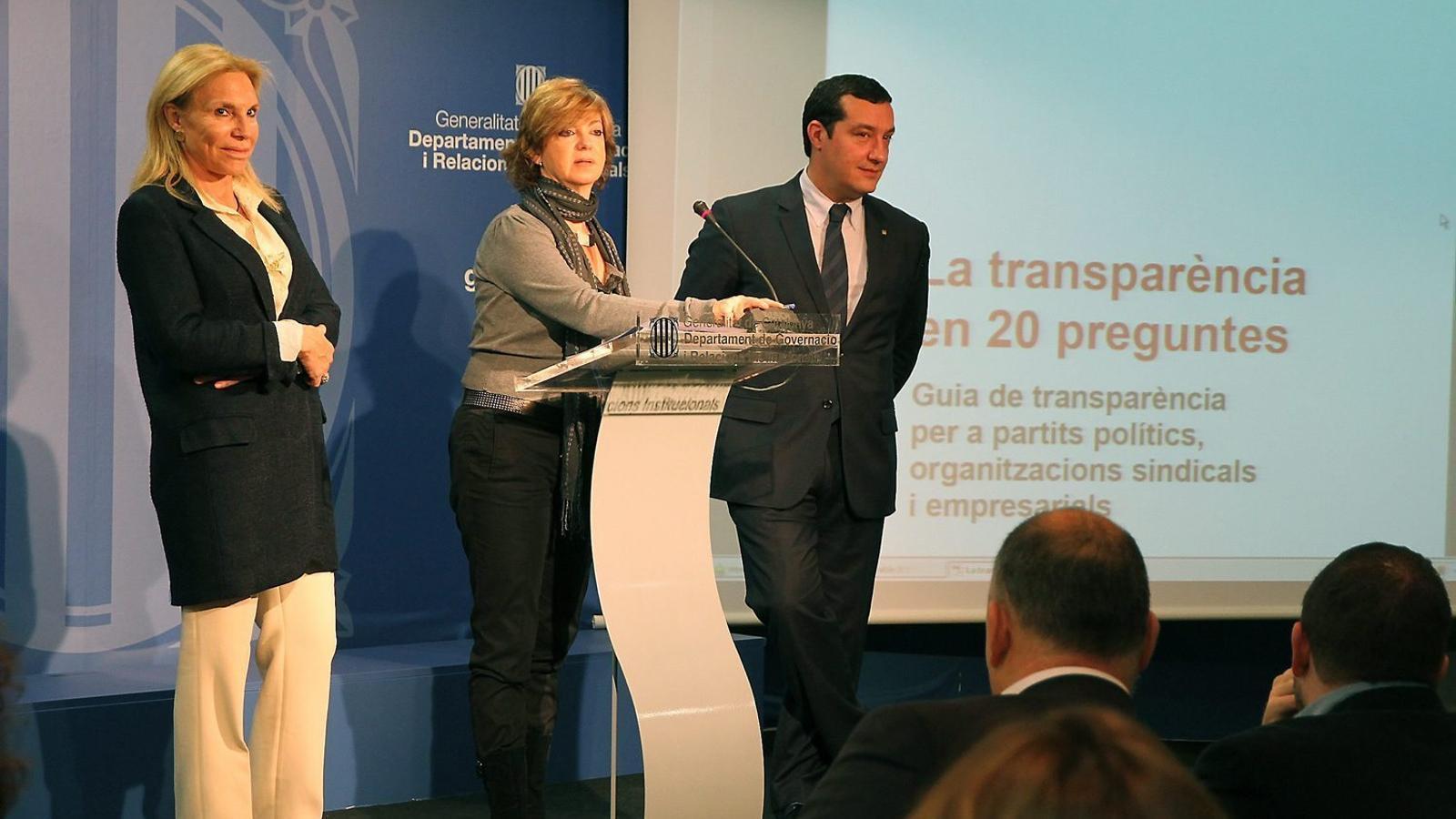 La magistrada Núria Bassols va ser nomenada comissionada de Transparència  del Govern de la Generalitat l'any 2015.