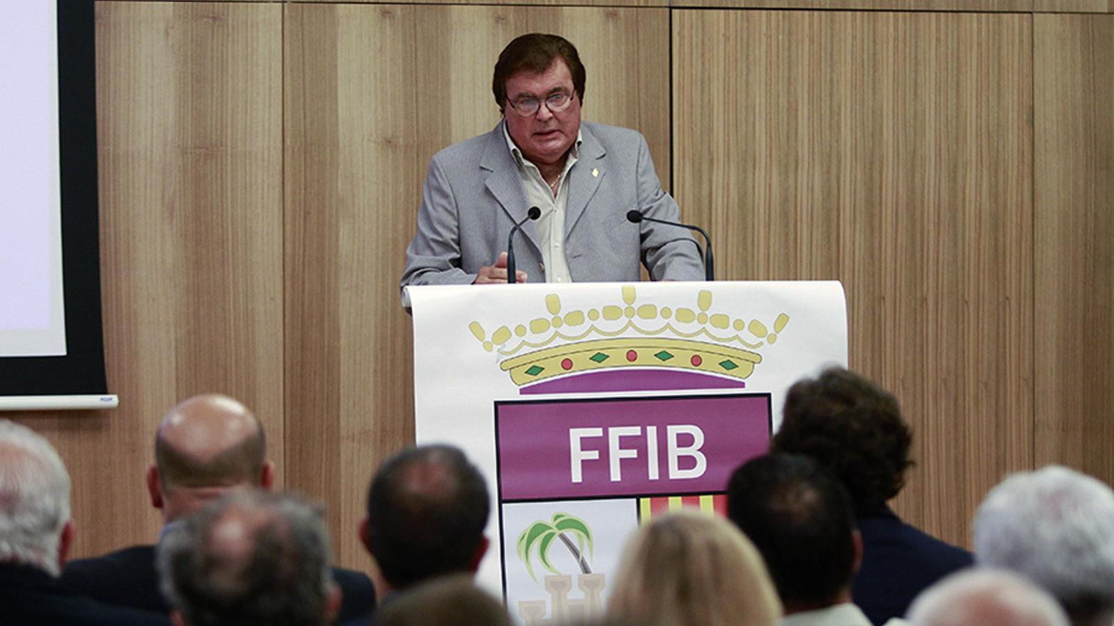 Miquel Bestard, president de la Federació Balear de Futbol