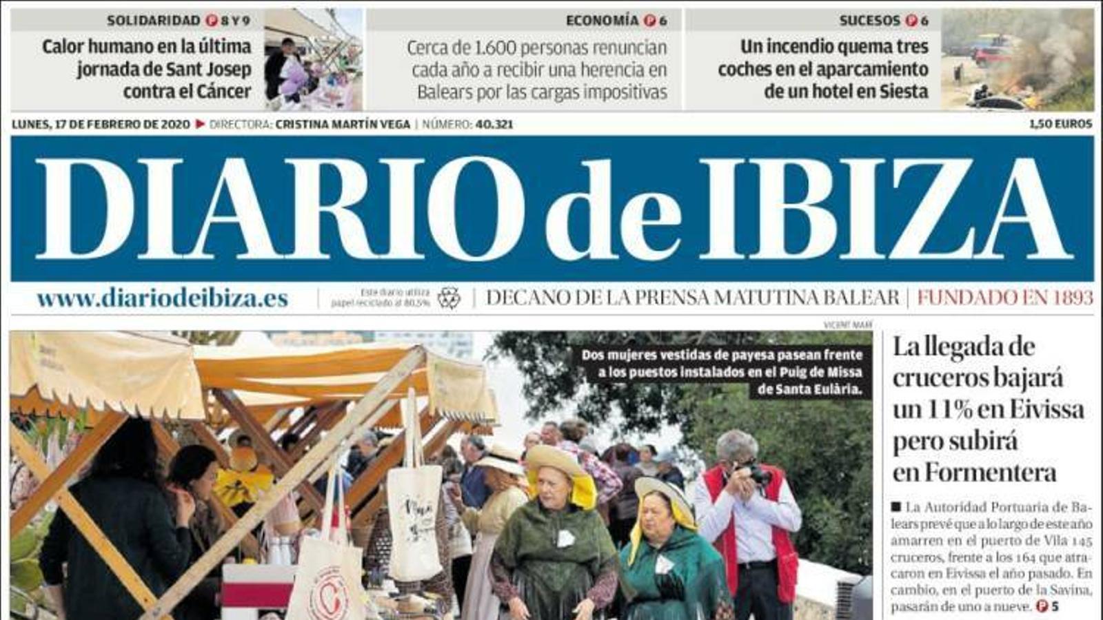 """""""Cort donarà 15.000 euros a cada família que abandoni Son Banya"""", la portada d''Última Hora'"""