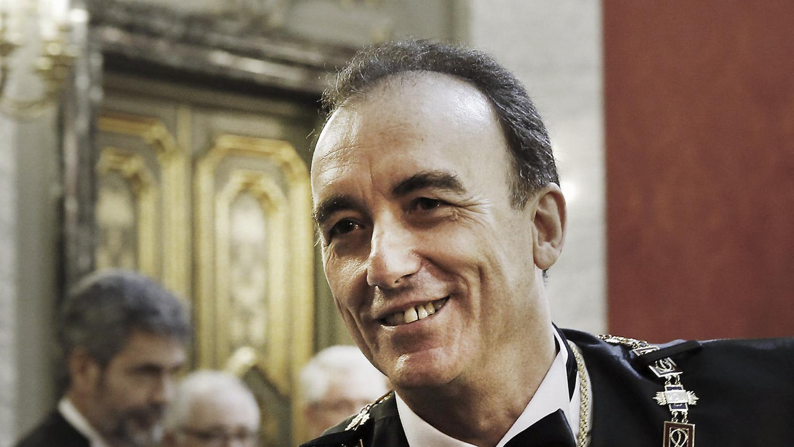 El president de la sala penal del Tribunal Suprem, Manuel Marchena, durant la presa de possessió el 2014.