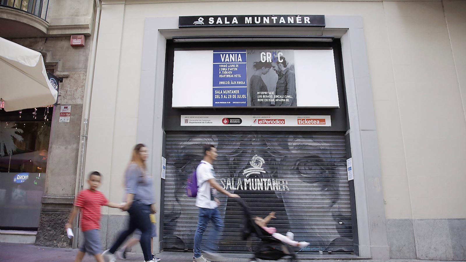 La façana de la Sala Muntaner ahir.