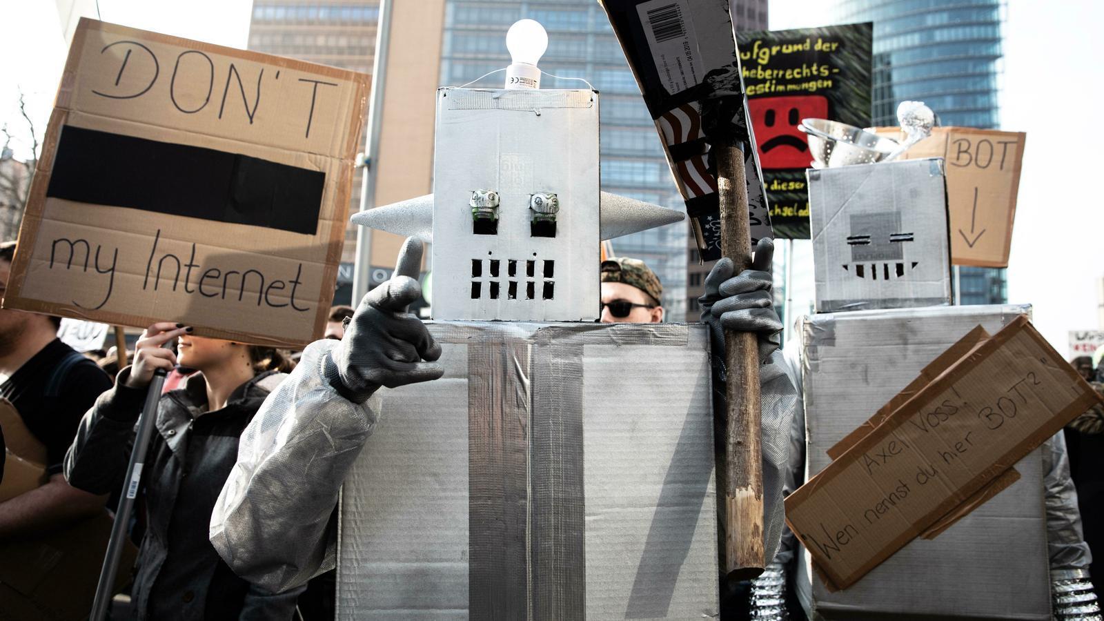 Manifestació d'aquest cap de setmana a Alemanya en contra de l'article 13 de la directiva