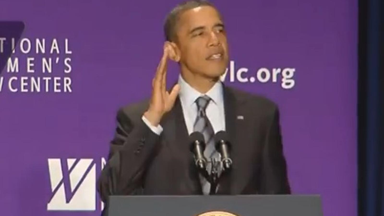 Obama canta 'Born this way' de Lady Gaga
