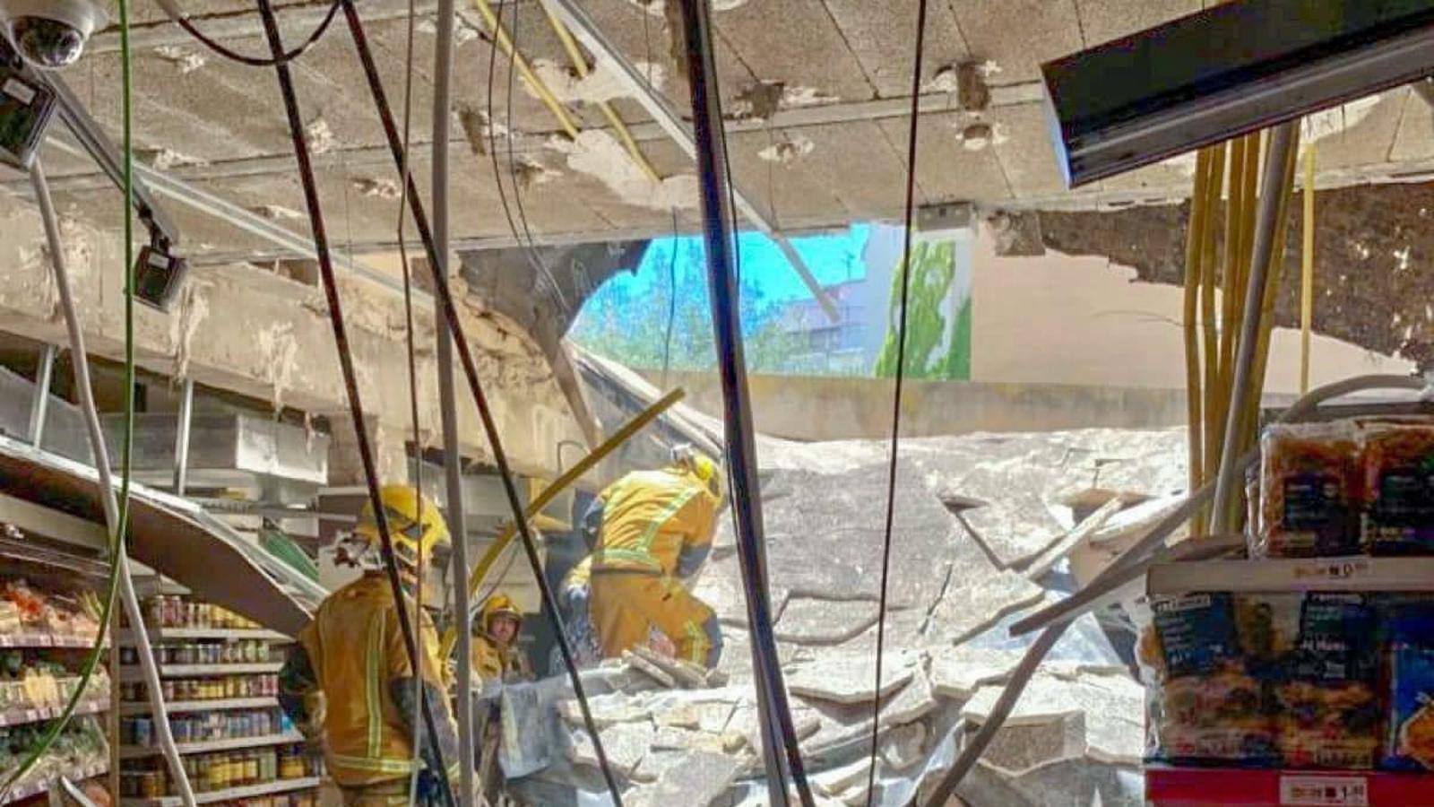 Sis ferits per l'esfondrament d'un sostre en un supermercat de Palma
