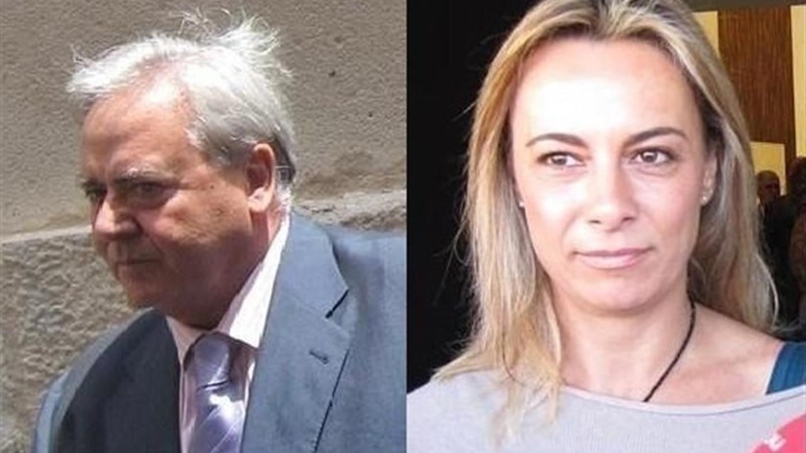 Els exalcaldes d'Alacant Luis Díaz Alperi i Sonia Castedo.
