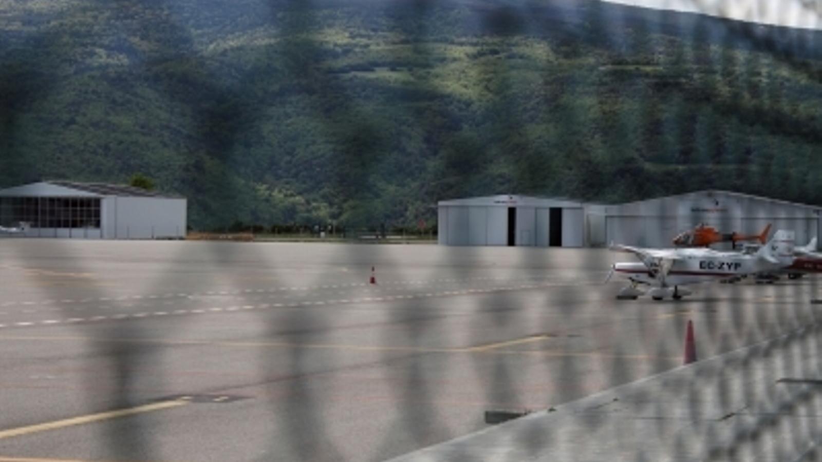 Una avioneta a l'aeroport d'Andorra-La Seu, en una imatge d'arxiu