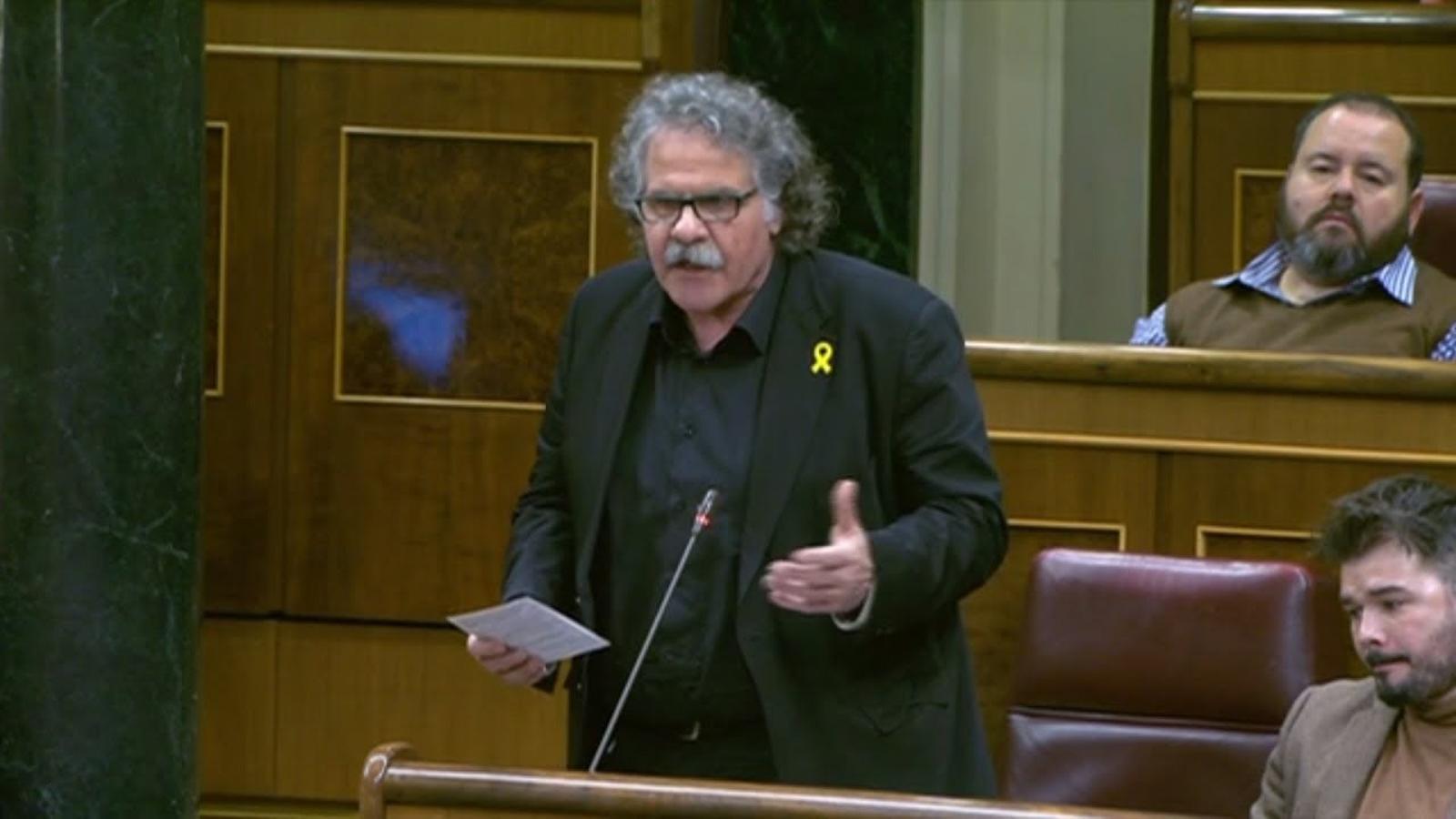 """Tardà a Rajoy: """"Acosti el presos, per humanitat"""""""