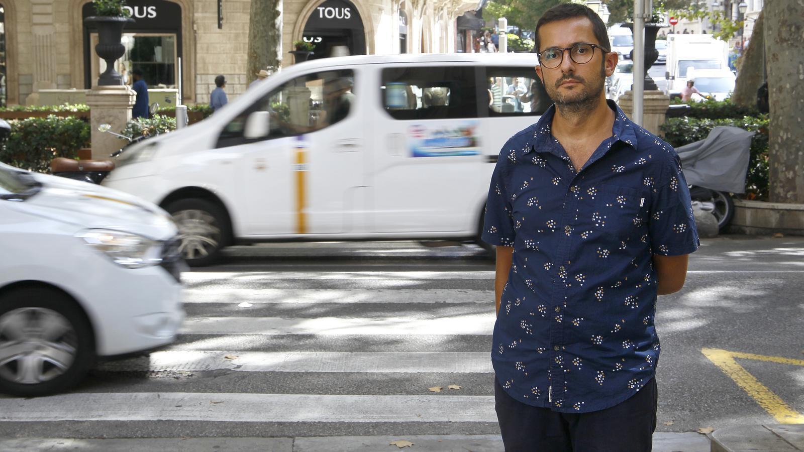Joan Ferrer és el regidor de mobilitat de l'Ajuntament de Palma