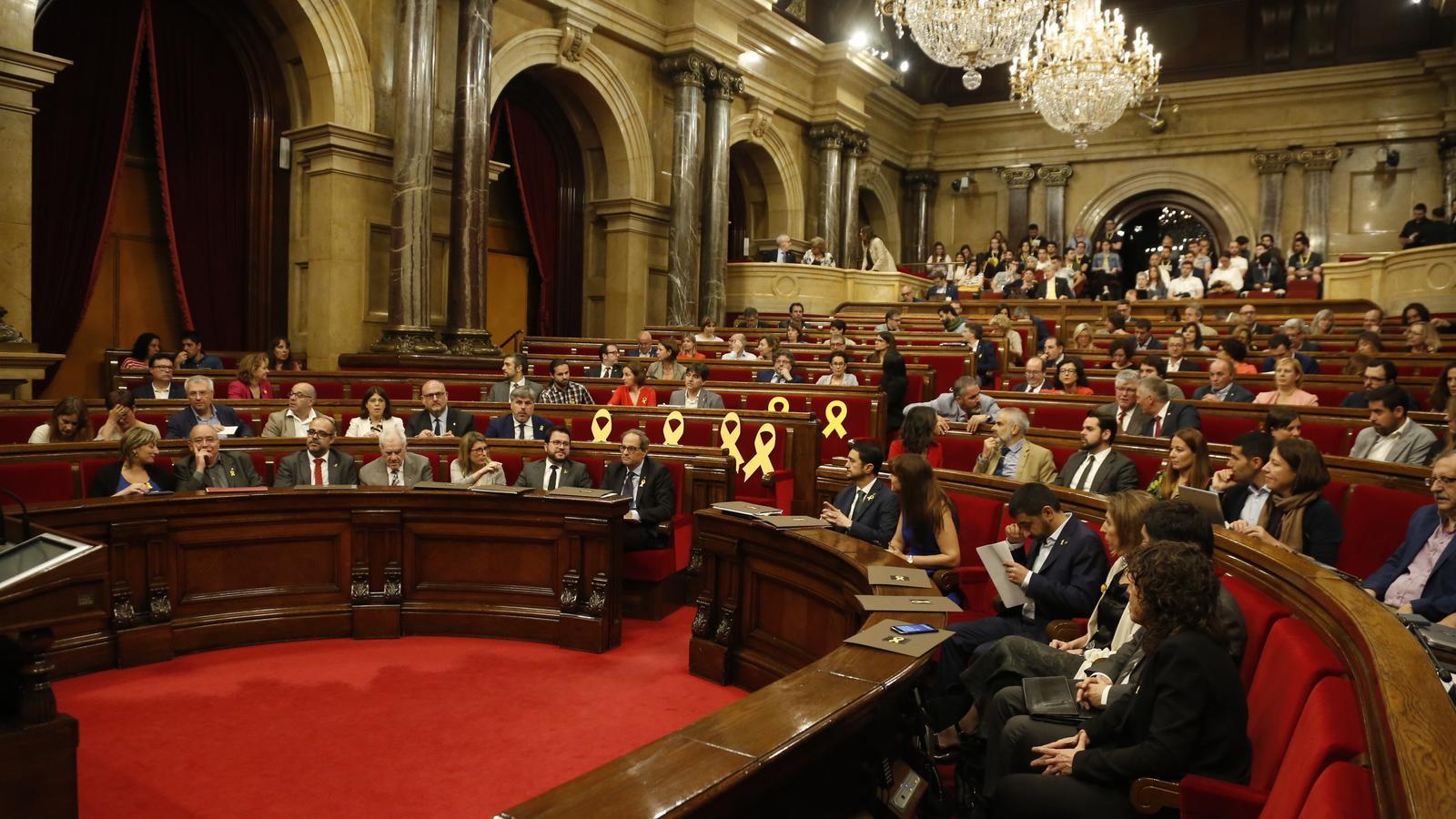 Sessió de control al Govern al Parlament de Catalunya