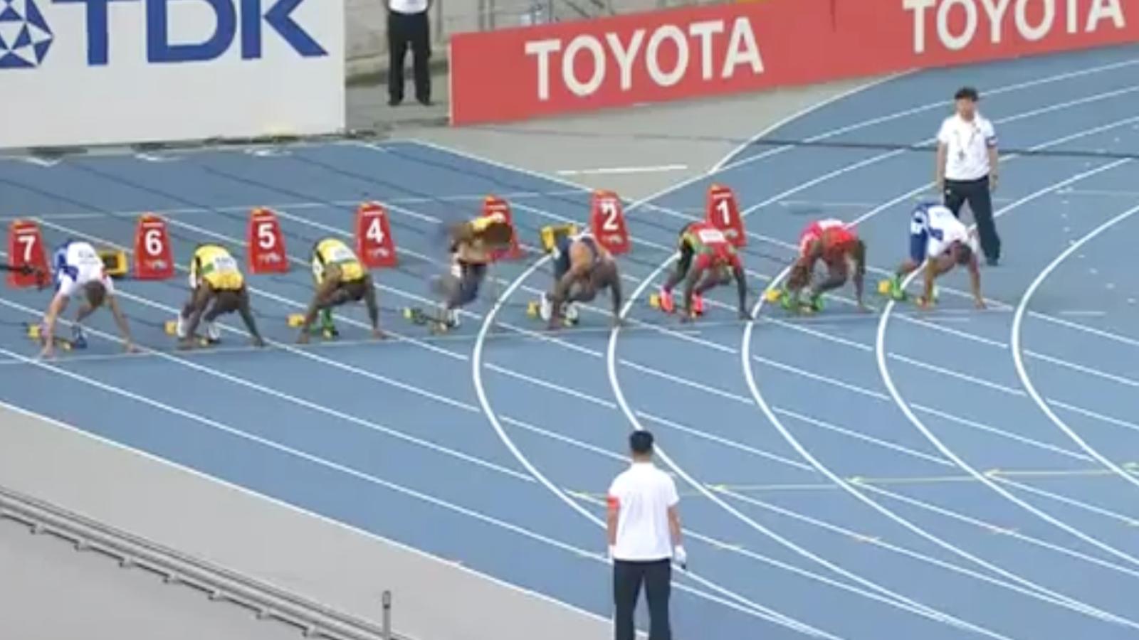 La sortida falsa d'Usain Bolt a Daegu
