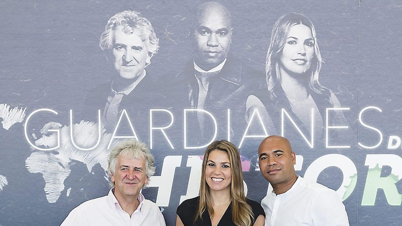 Juan Luis Arsuaga, Nira Juanco i Santiago Zannou presentaran el nou programa Guardianes de la historia, que aquesta nit s'estrena a #0.