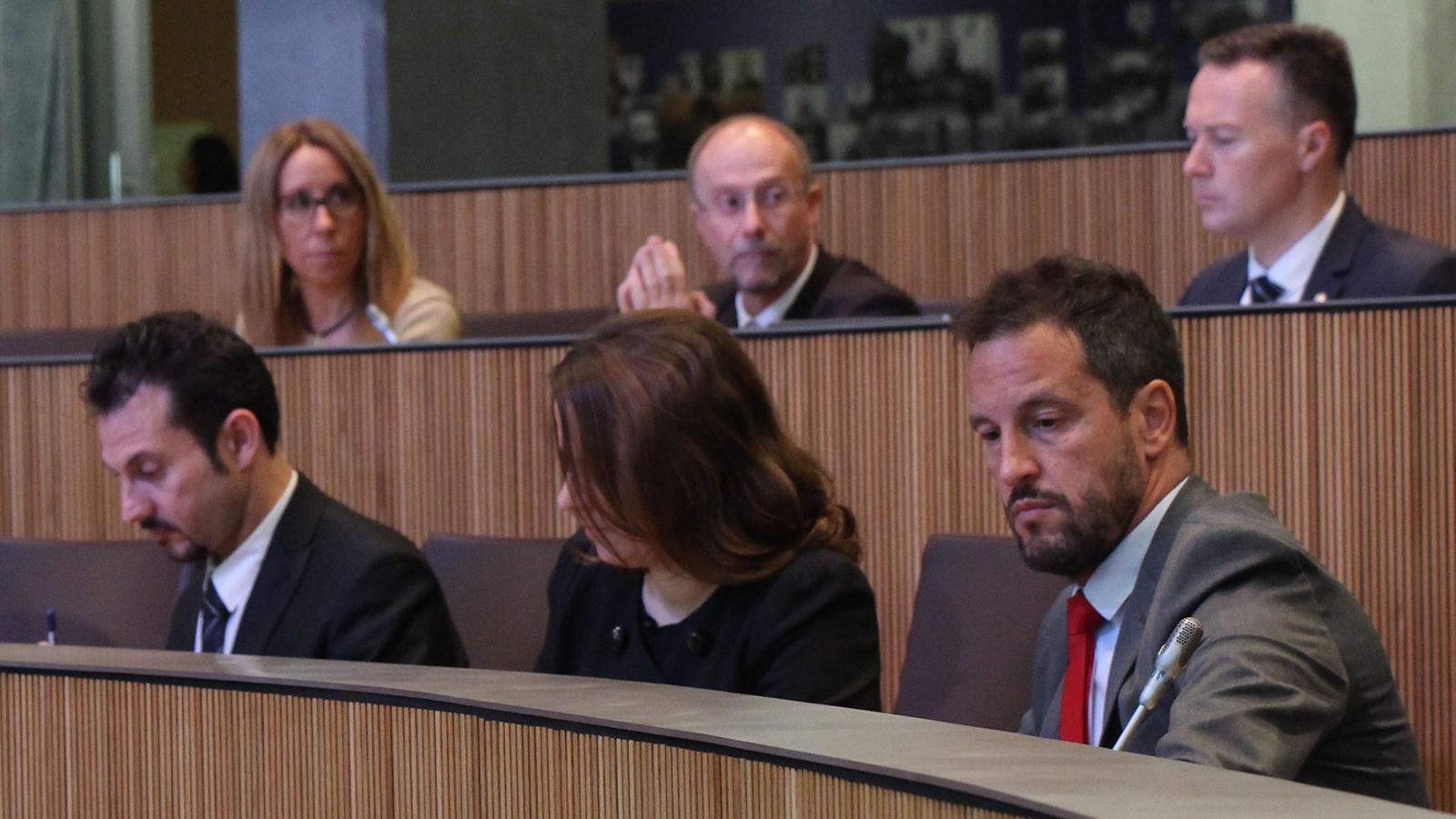 Els consellers del PS, Pere López, Rosa Gili i Gerard Alís. / M. F. (ANA)