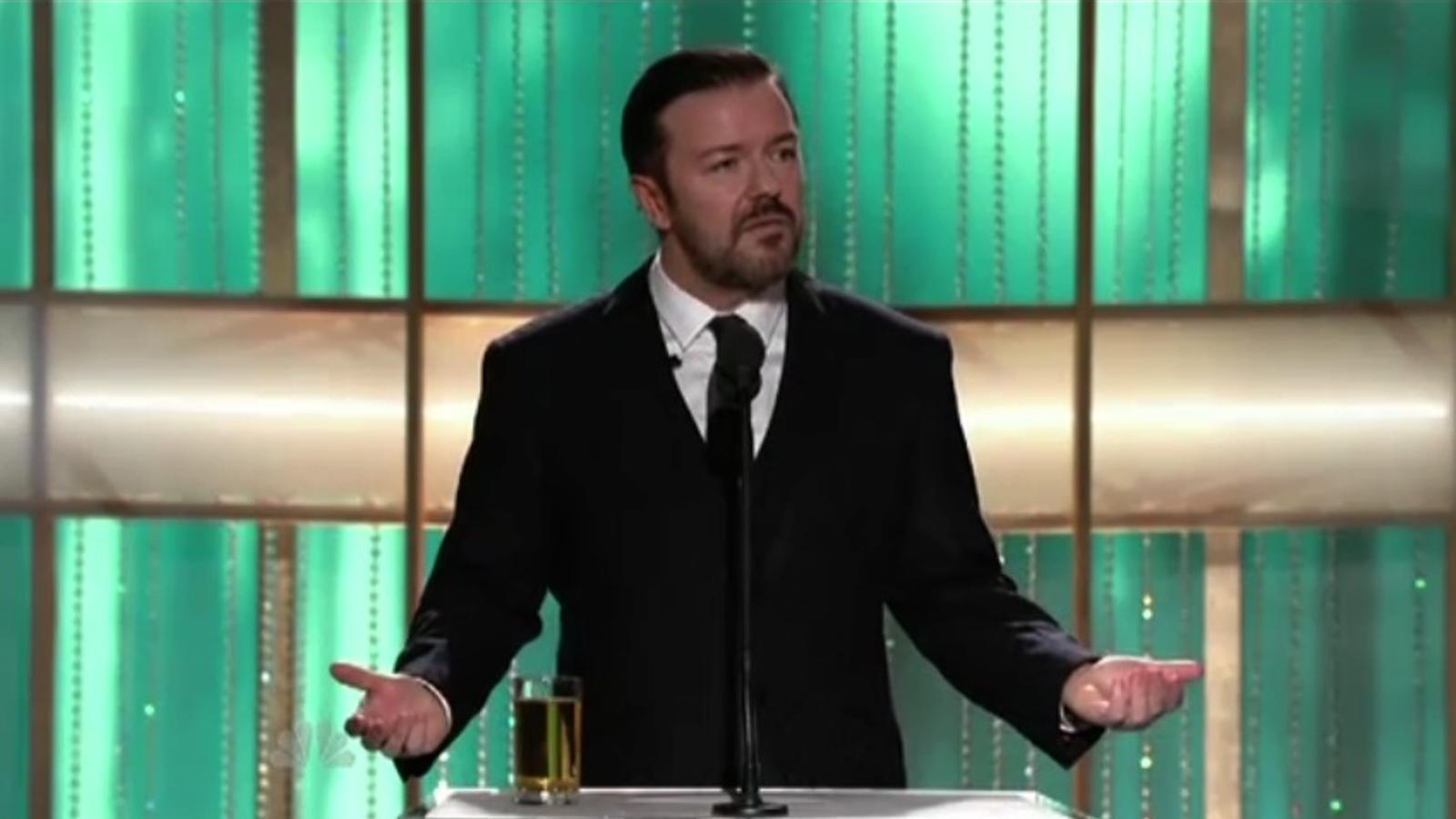 Monòleg de Ricky Gervais als Globus d'Or
