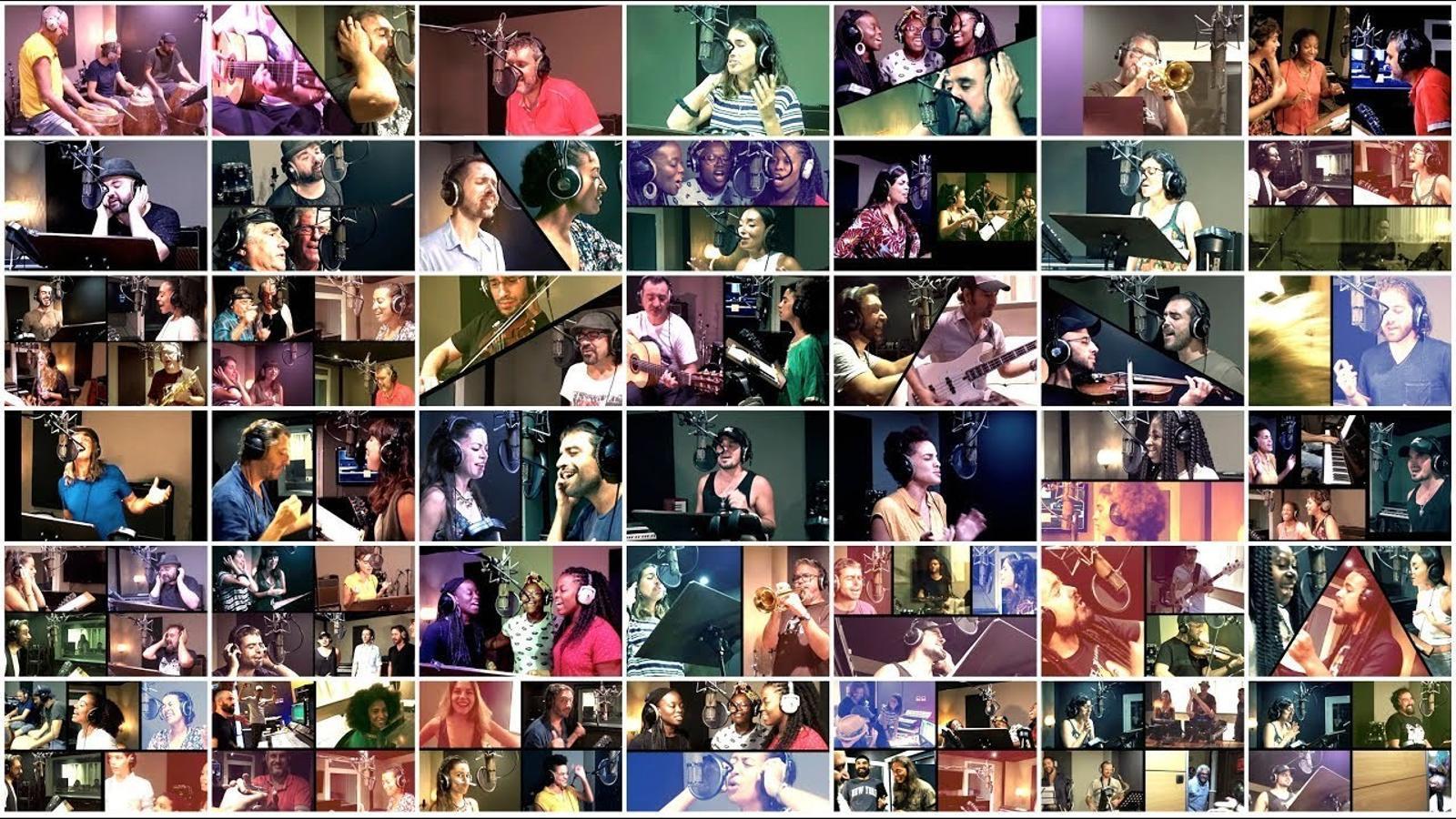 Cinquanta músics homenatgen La Rambla amb  una cançó