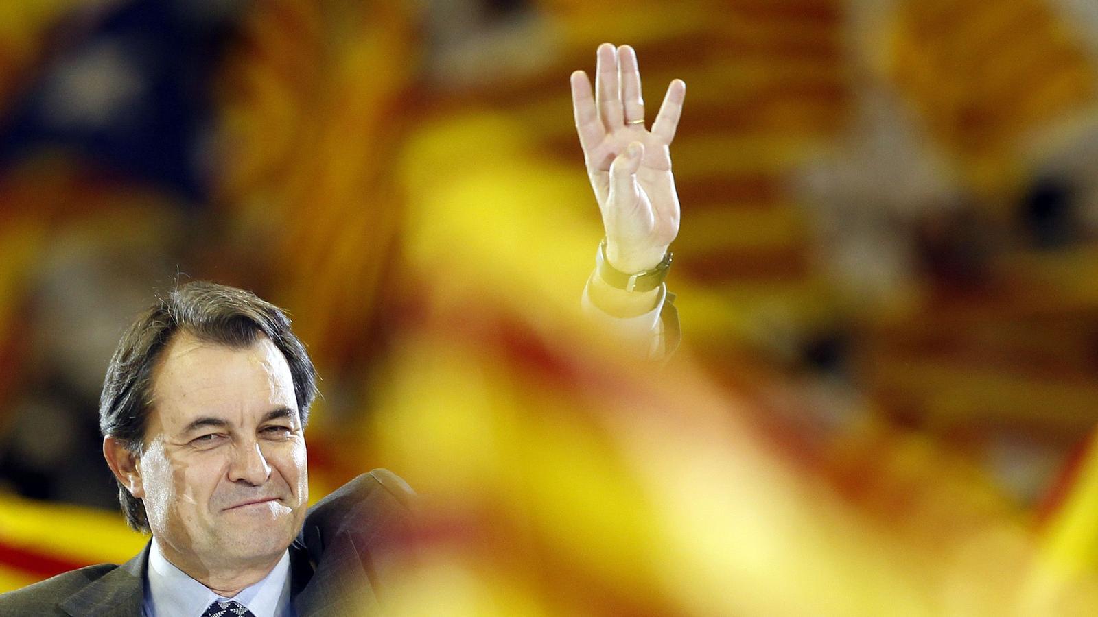 Artur Mas, en l'últim míting de la campanya de CiU.