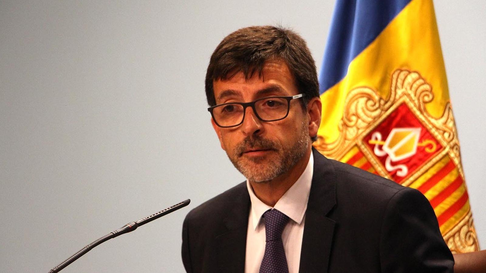 El ministre portaveu, Jordi Cinca, en la roda de premsa posterior al consell de ministres. / M. F. (ANA)