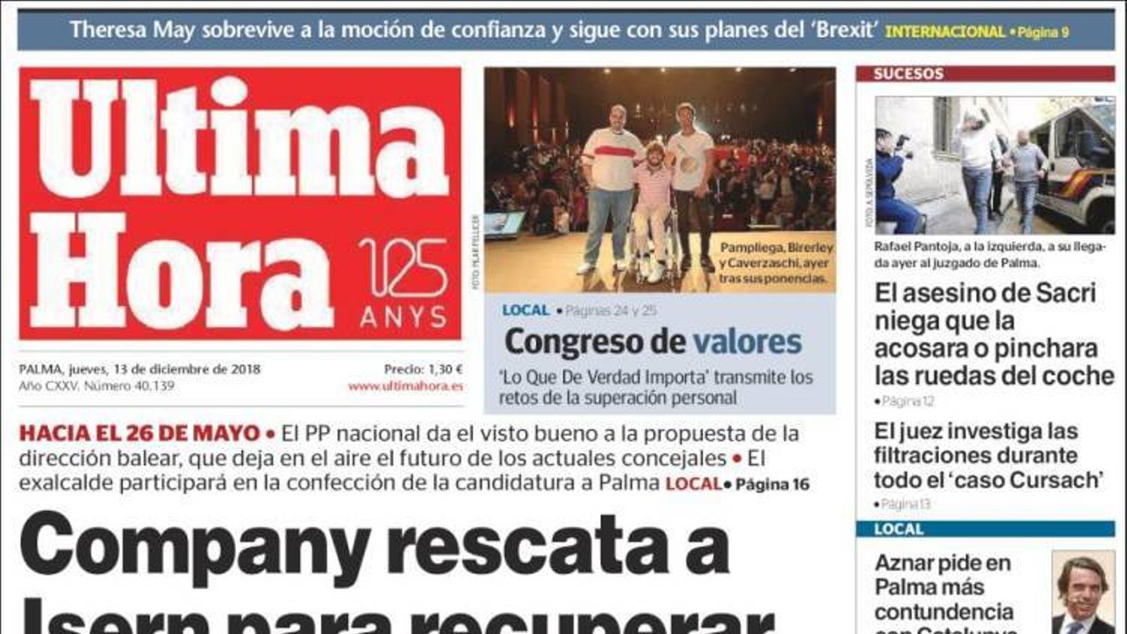 """Josep Borrell: """"Reconec el poc èxit de la política de l'ibuprofèn a Catalunya"""", a la portada de l''Abc'"""