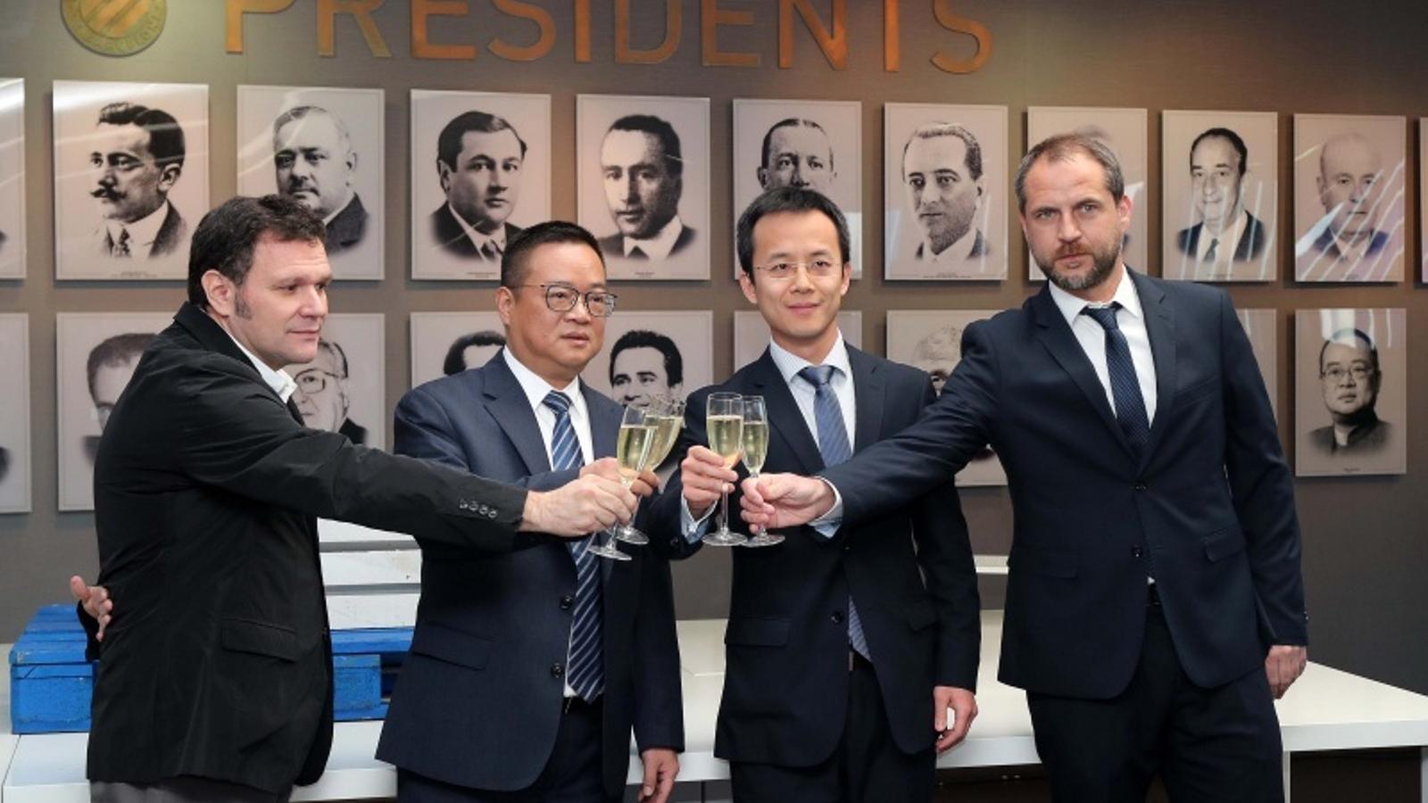 Roger Guasch, Chen Yansheng, Mao Ye Wu i Òscar Perarnau, brinden pel 2019