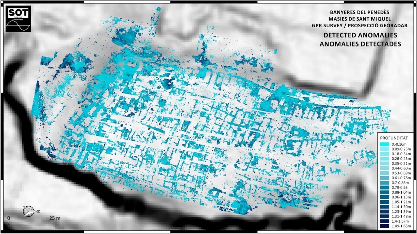 L'ús del georadar ha permès una gran ciutat ibera soterrada a Banyeres del Penedès