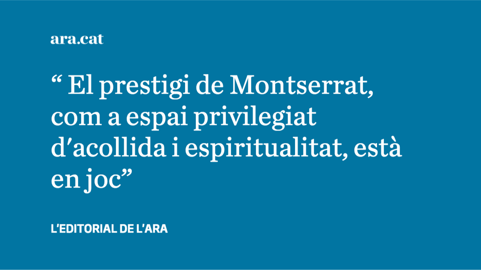 Abusos sexuals a Montserrat: l'obligació d'assumir els errors del passat