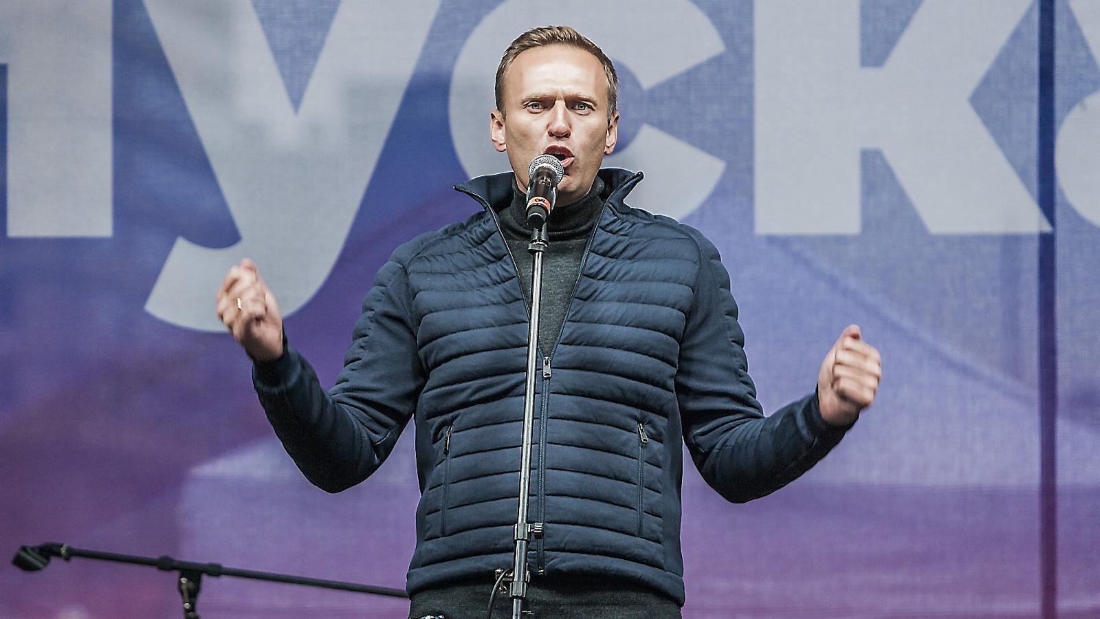 Navalni, una de les veus més significatives dels opositors al Kremlin, intervenint  En una manifestació  A favor de les llibertats a Moscou, en una imatge d'arxiu.