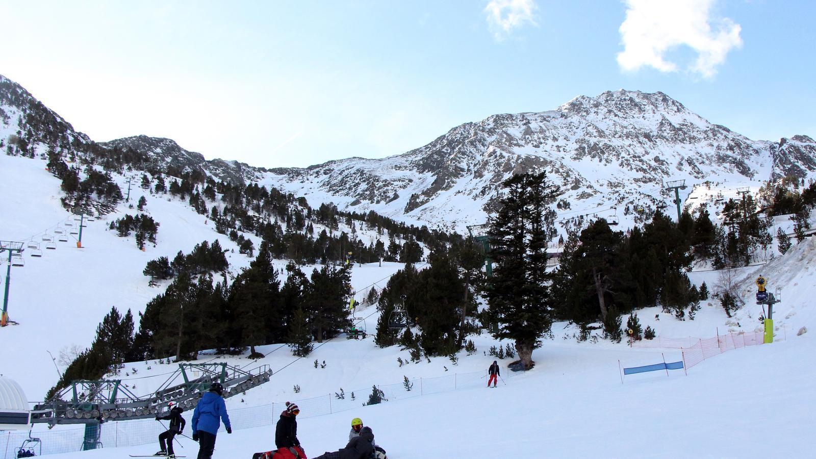 Esquiadors a Arcalís, l'hivern passat. /C. G.