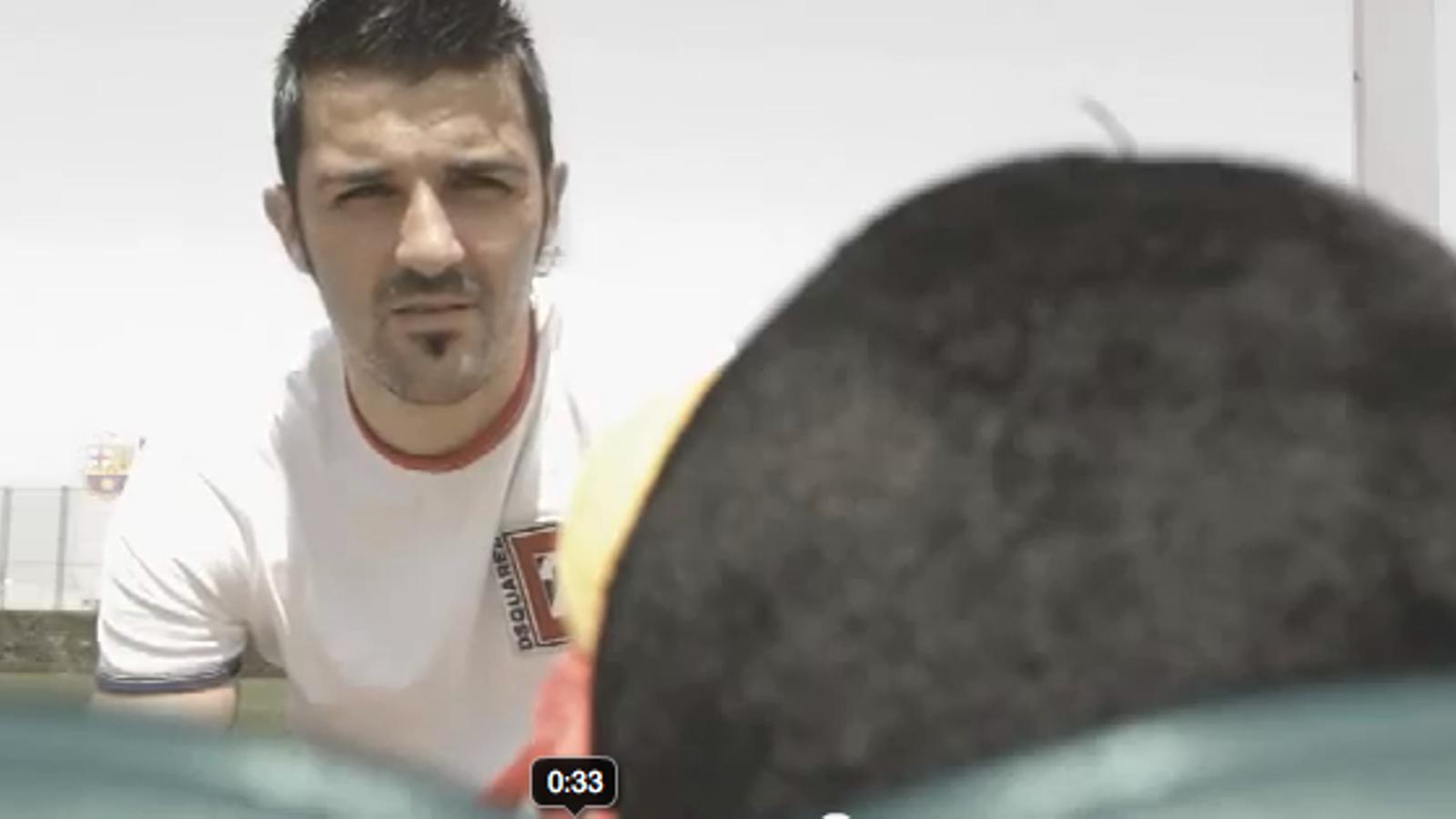 David Villa, protagonista del vídeo de presentació de la web del Barça en xinès