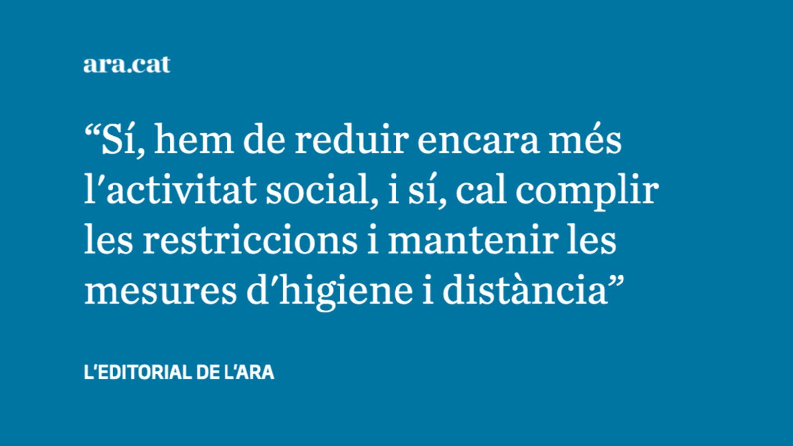 Les restriccions s'estenen amb l'objectiu d'evitar confinaments totals