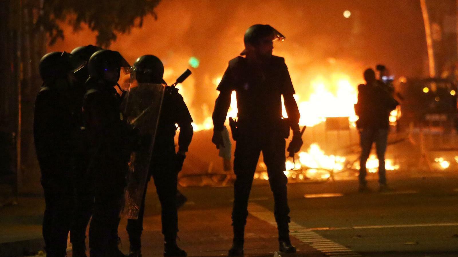 Nit de disturbis a Barcelona, amb rèpliques a Tarragona, Lleida i Girona