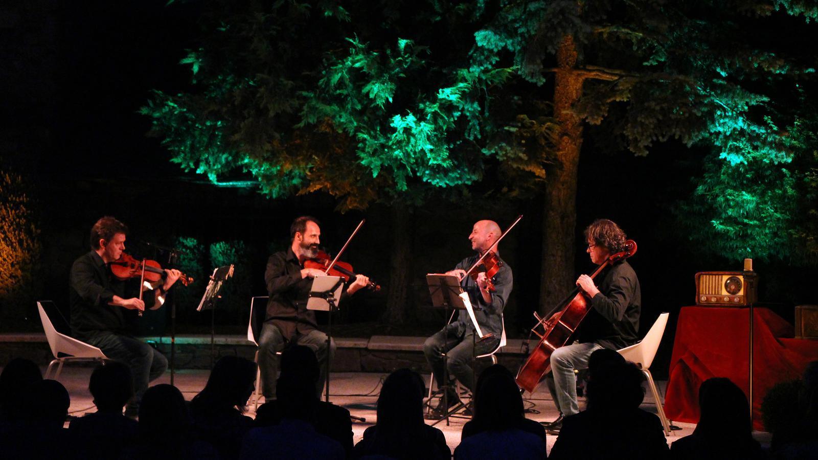 Un moment del concert de l'ONCA, inspirat en Ràdio Andorra. / C. G. (ANA)