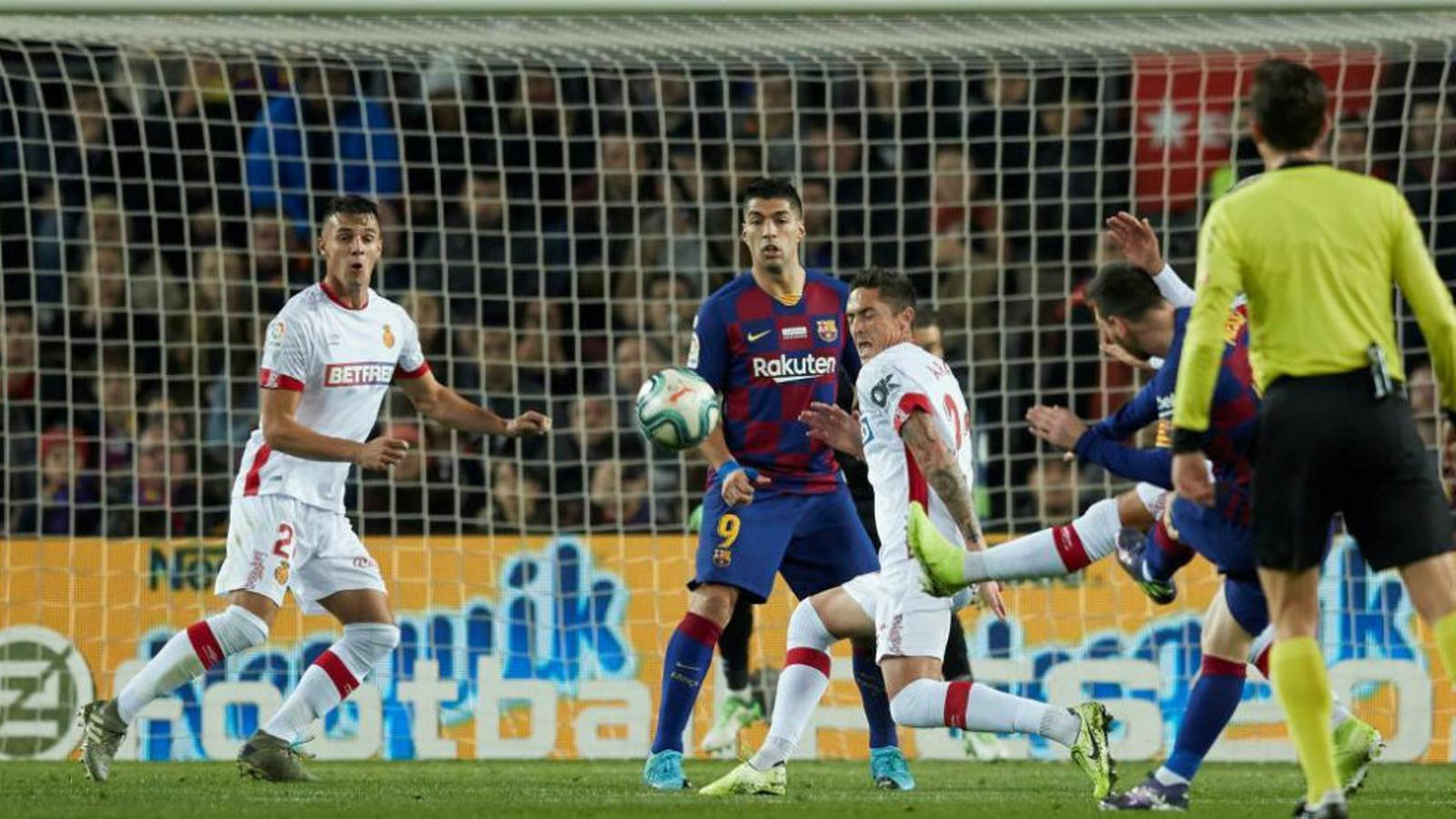 Imatge del partit al Camp Nou