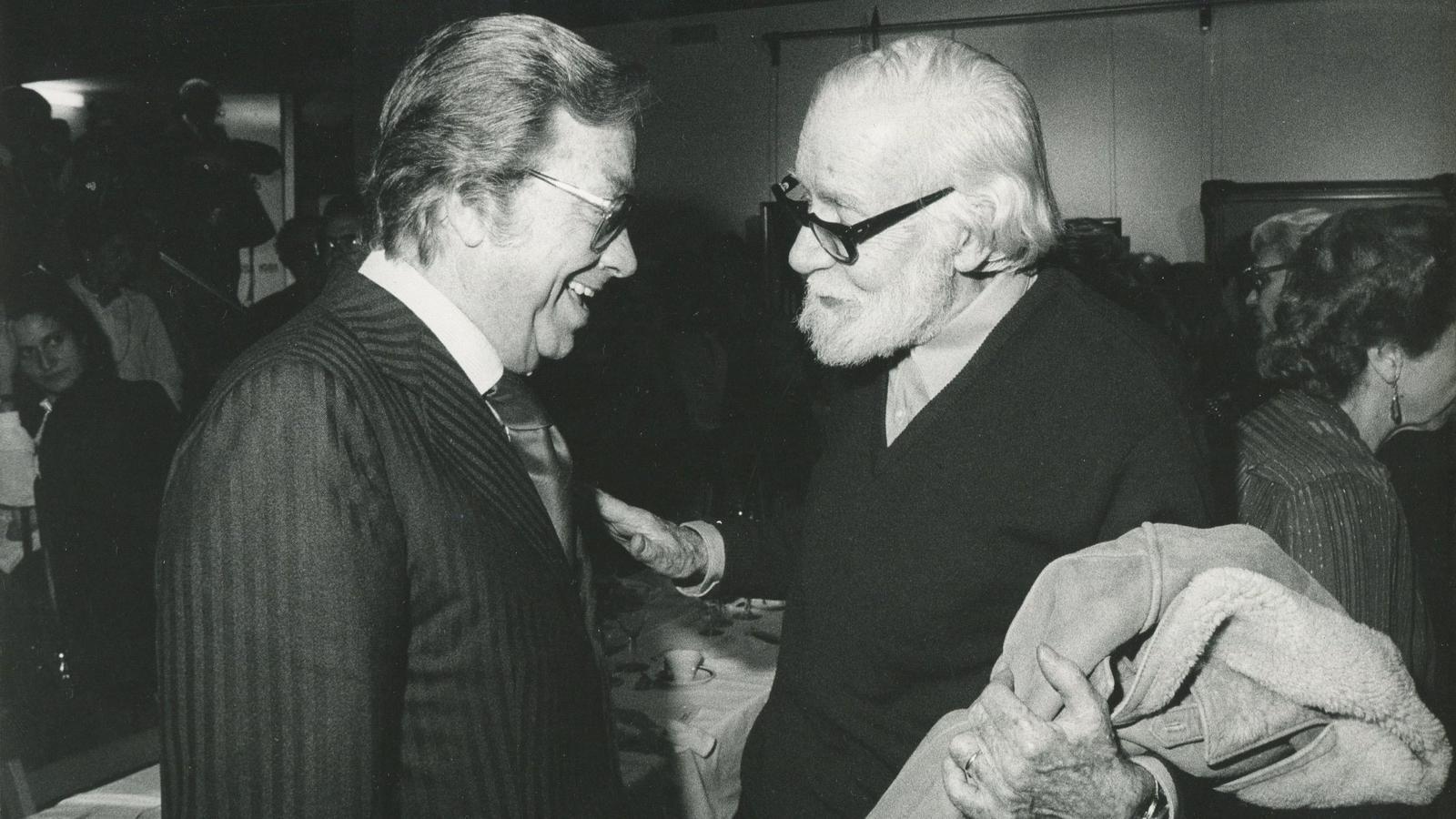 J.B. Cendrós amb Joan Oliver (Pere Quart)