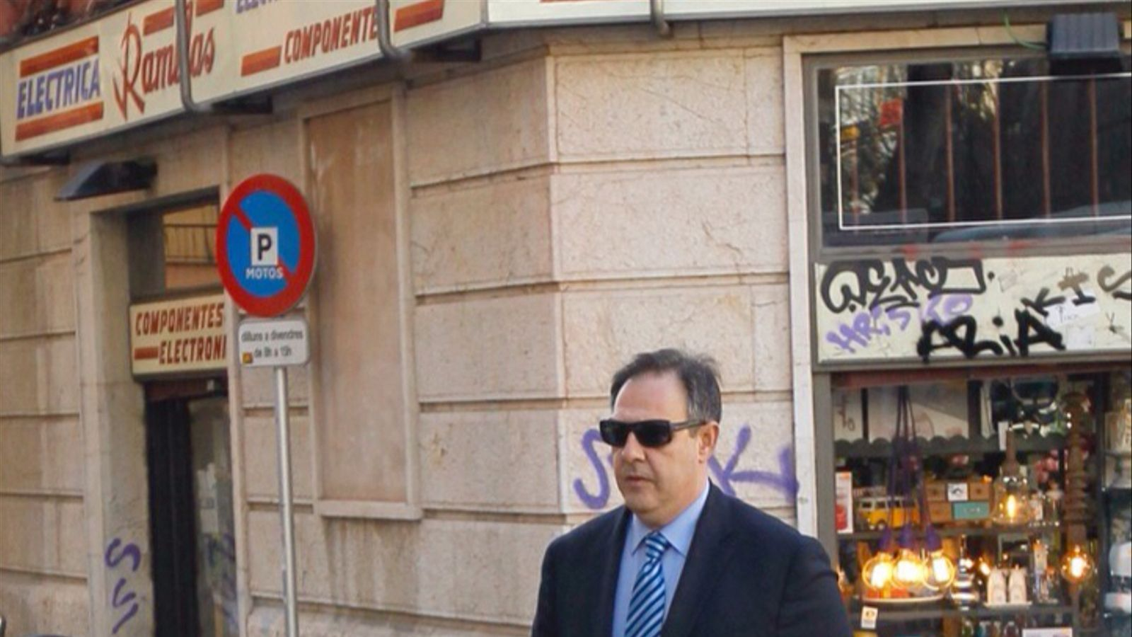 El jutge Manuel Penalva, entrant als jutjats.