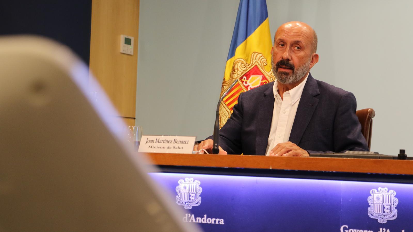El ministre de Salut, Joan Martínez Benazet. / E.C. (ANA)