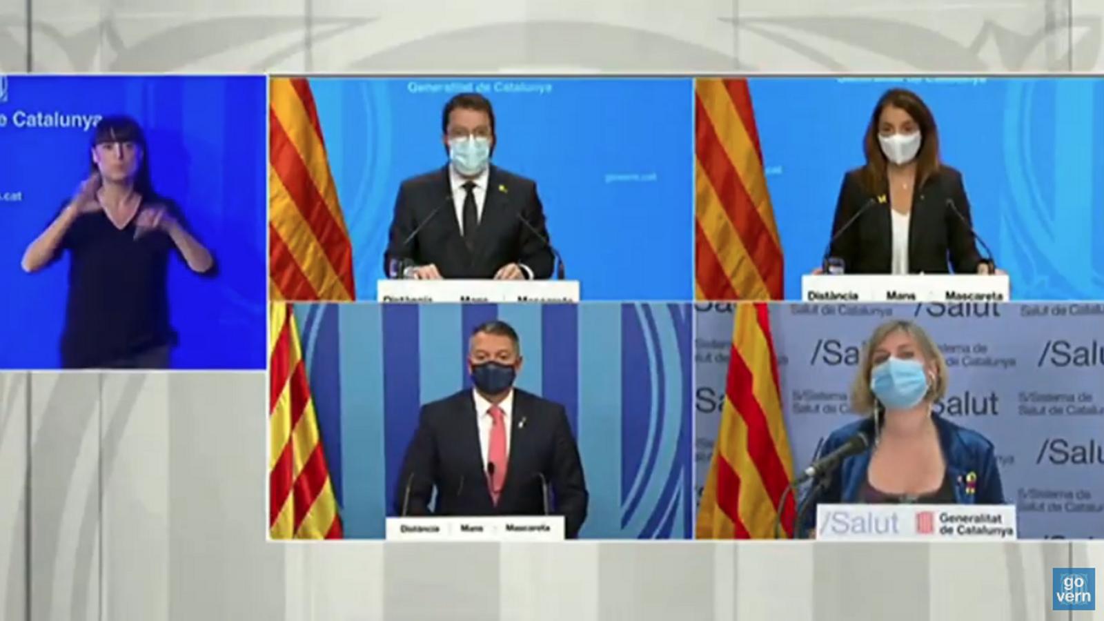 EN DIRECTE   La roda de premsa del Govern per anunciar les noves mesures contra el virus